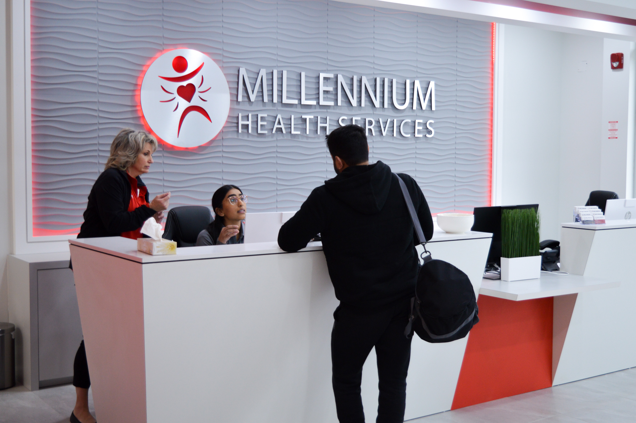 millennium health services reception